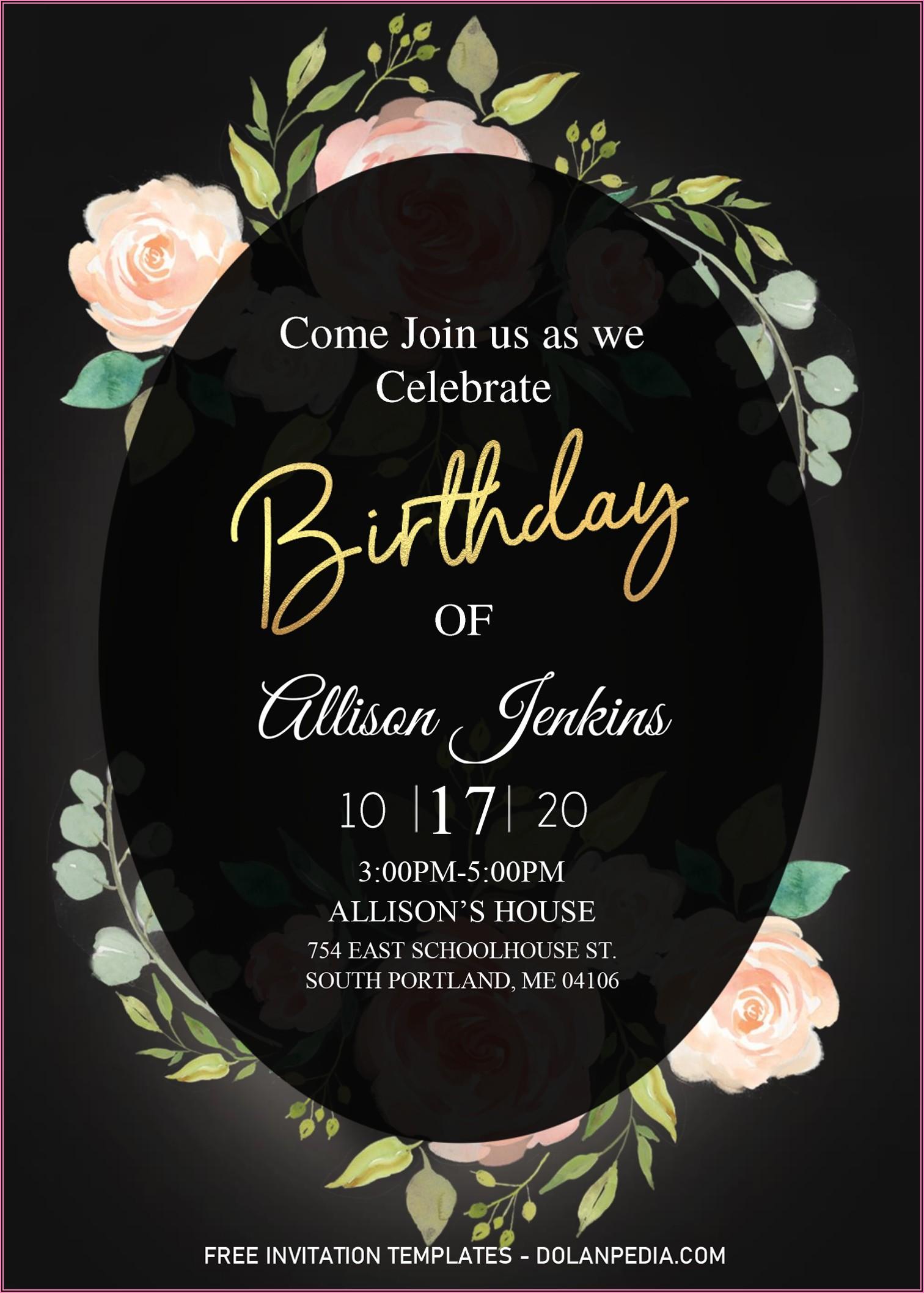Birthday Invitation Templates Microsoft Word