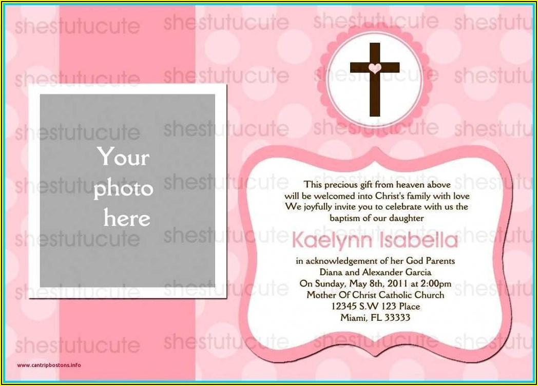 Blank Template For Baptism Invitation