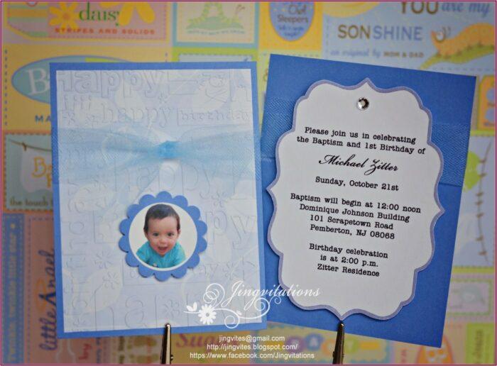 Boy First Birthday Invitations Free