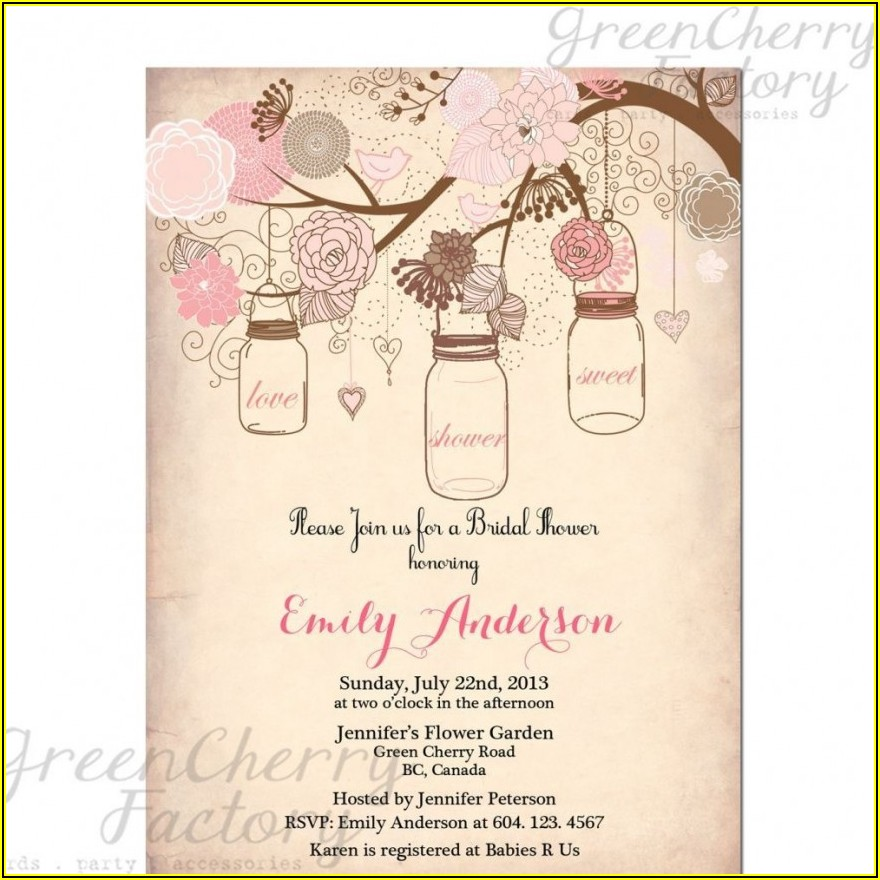 Bridal Shower Invite Free Template