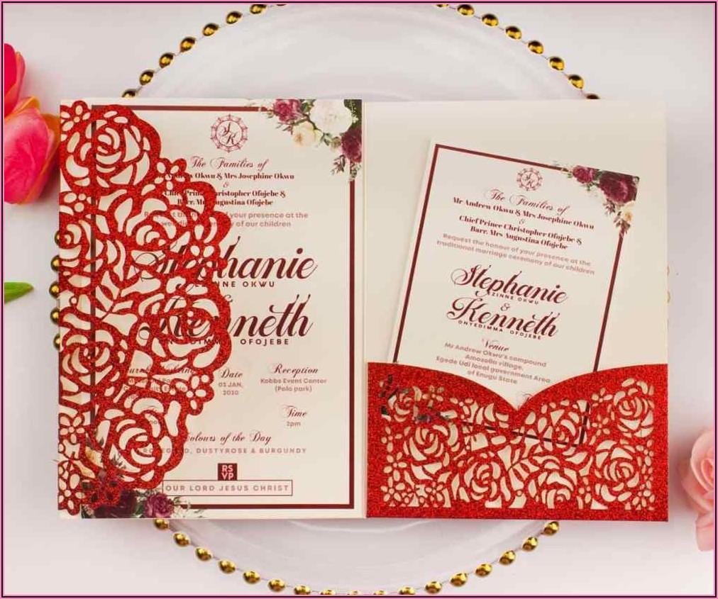 Burgundy Navy Blue Rose Gold Wedding Invitations
