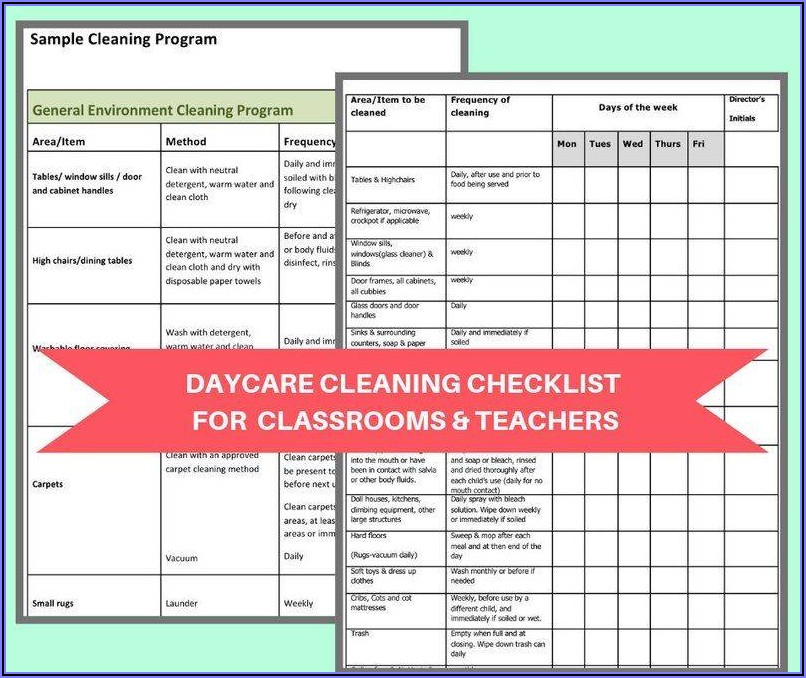 Business Cleaning Schedule Template