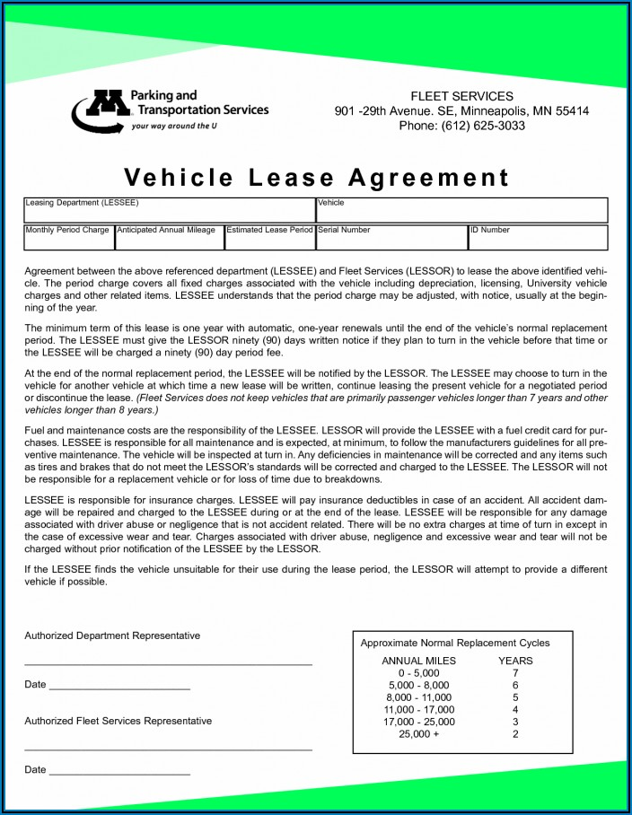 Business Lease Agreement Template Pdf