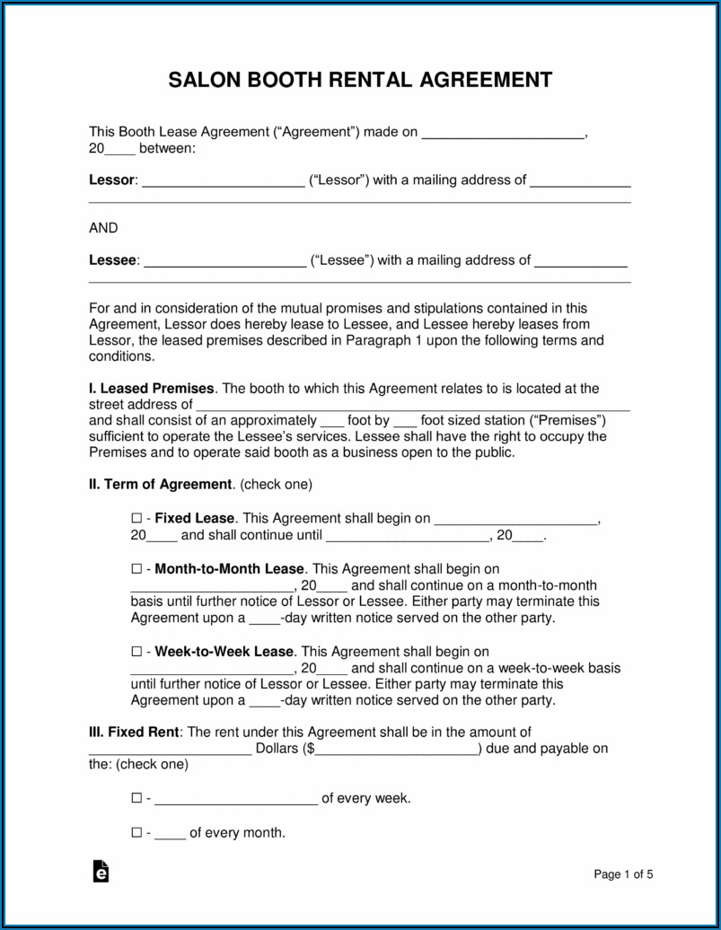 Business Lease Agreement Template