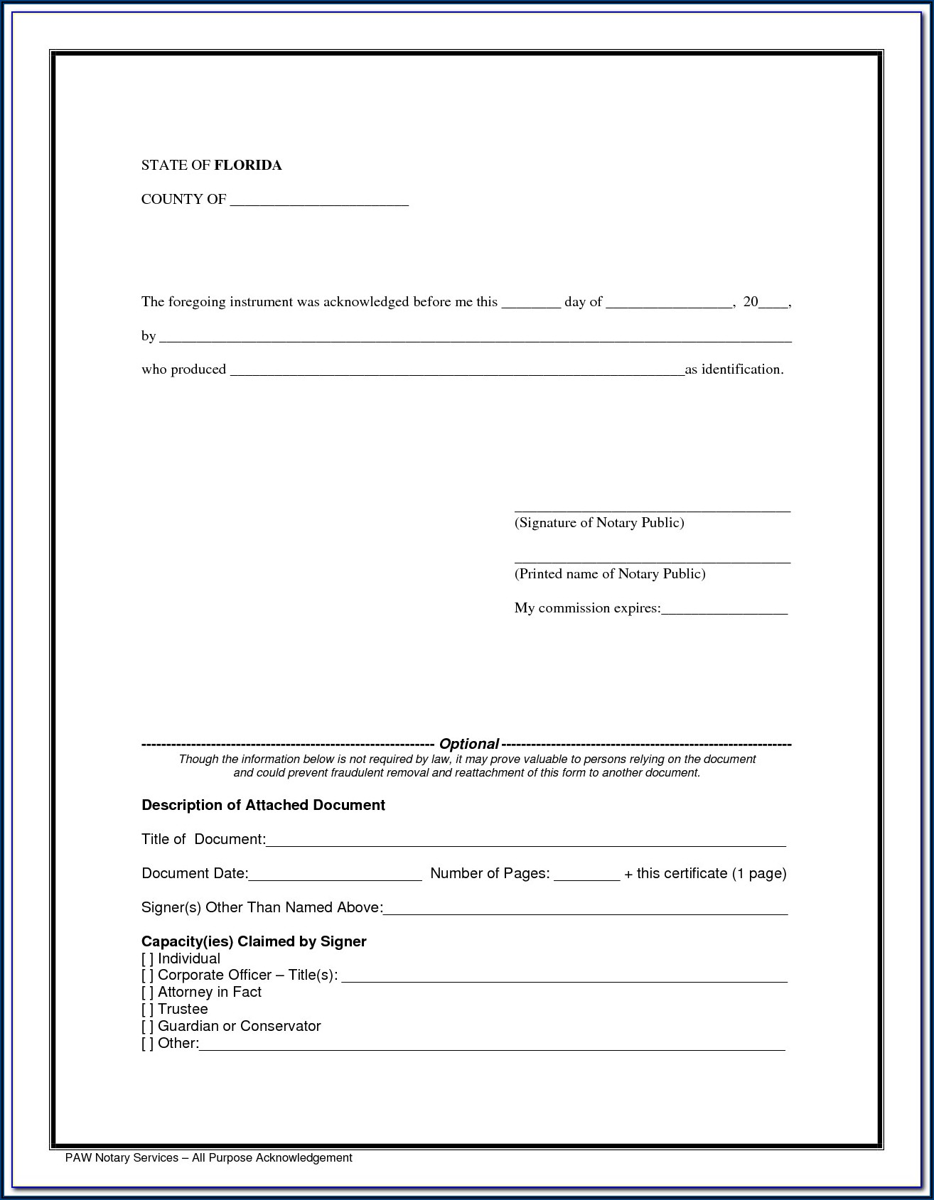 Ca Notary Forms