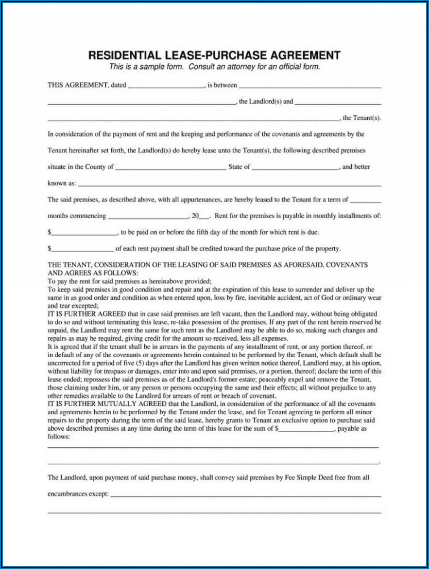Car Lease To Own Contract Template