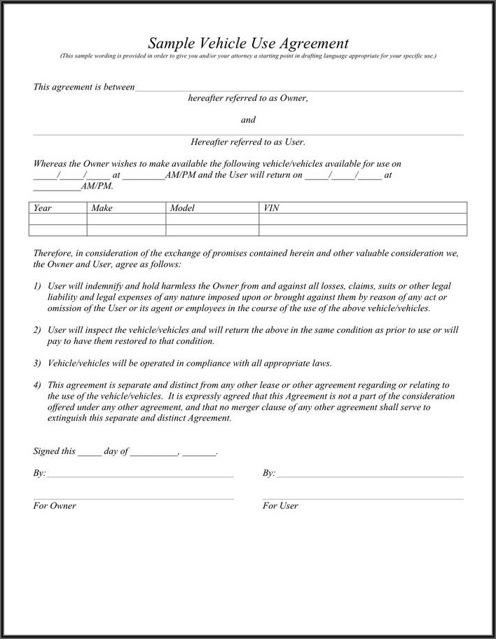 Car Lease Transfer Contract Sample