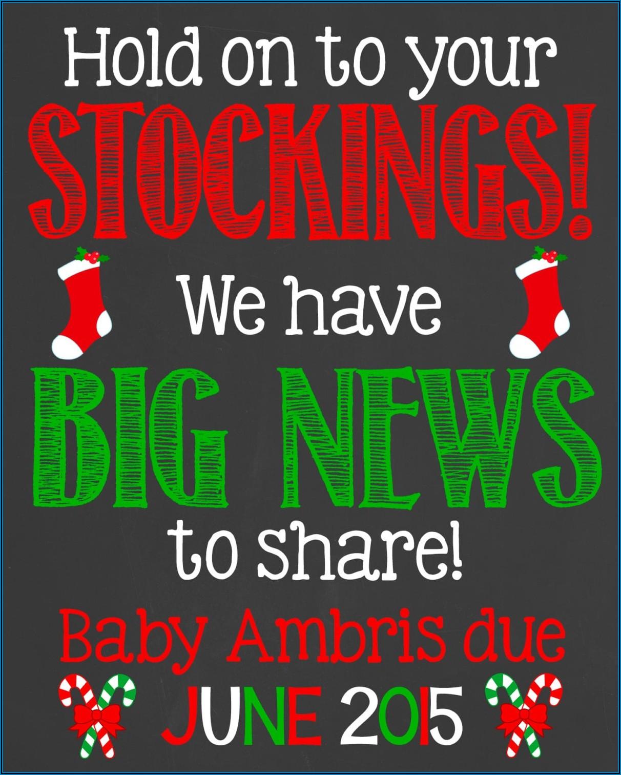 Christmas Pregnancy Announcement Captions For Instagram