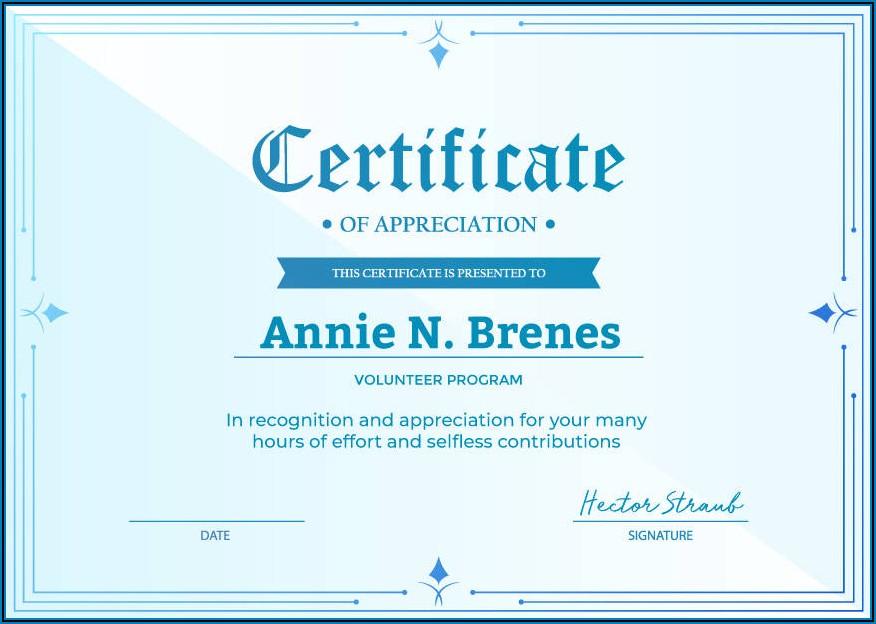 Church Member Certificate Template