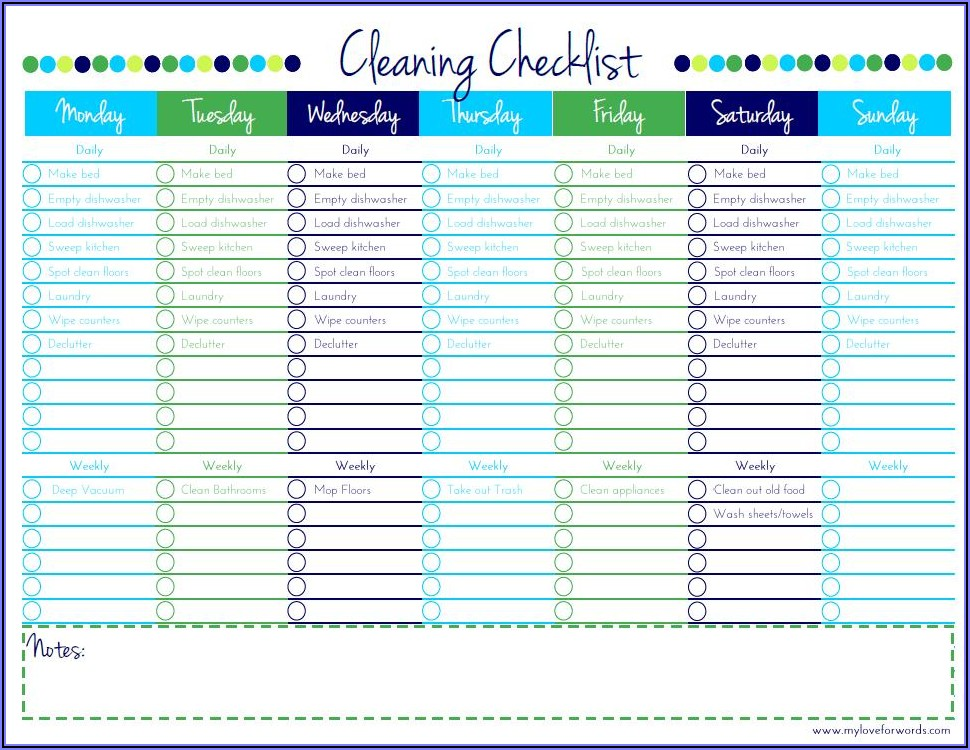 Cleaning Business Checklist Template Free