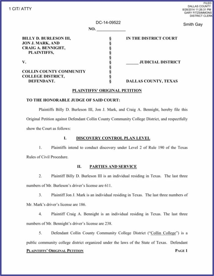 Collin County District Court Forms