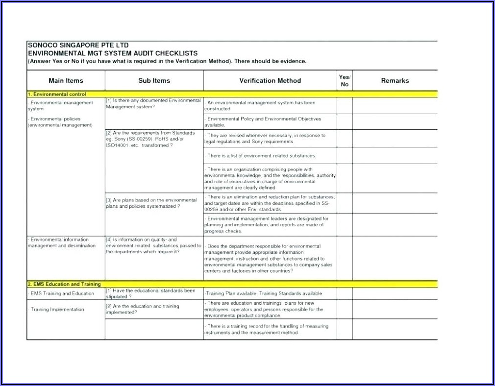 Construction Site Health And Safety Audit Template