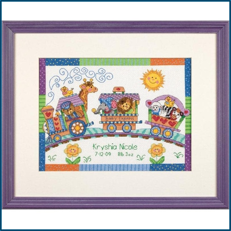 Counted Cross Stitch Birth Announcement Kits