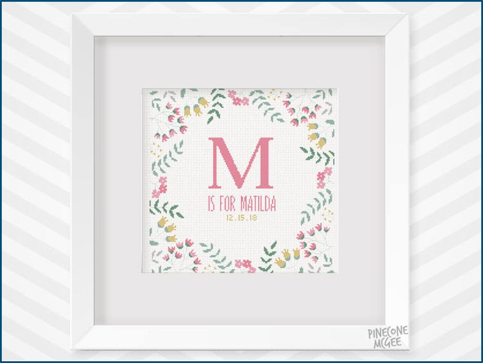Counted Cross Stitch Birth Announcement Patterns