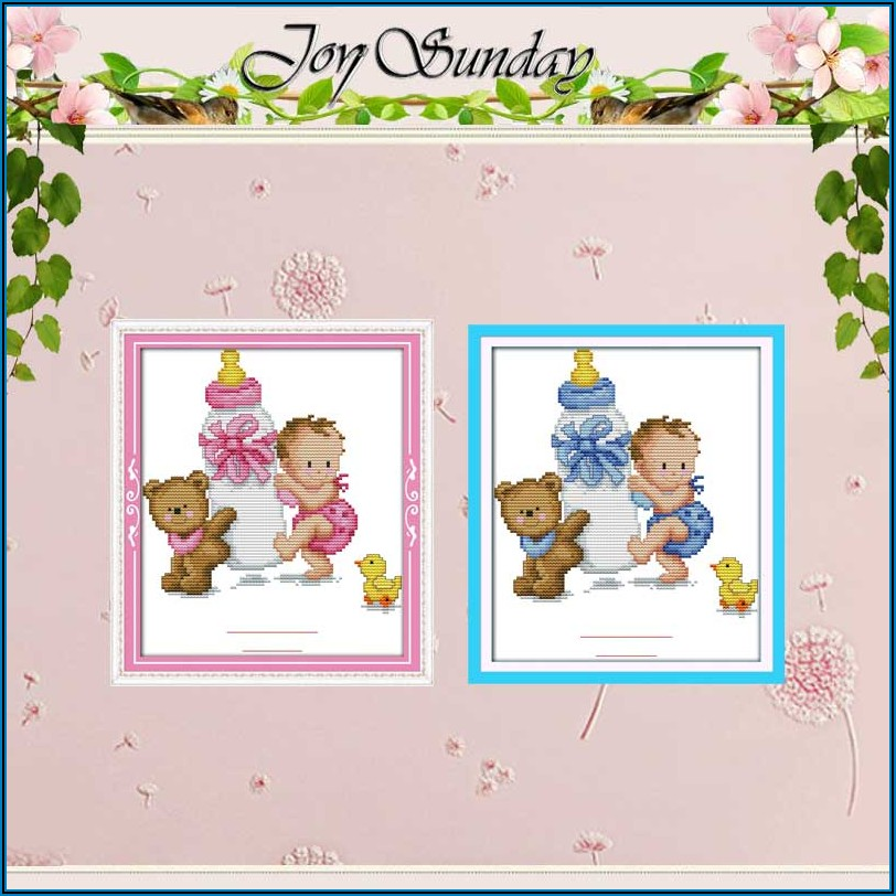 Counted Cross Stitch Birth Sampler Kits