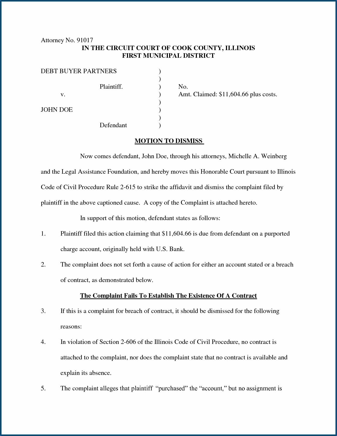 Court Affidavit Template Free