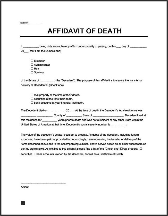 Court Affidavit Template