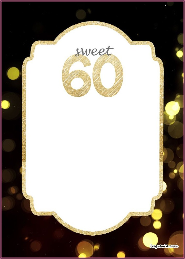 Create 60th Birthday Invitations Free