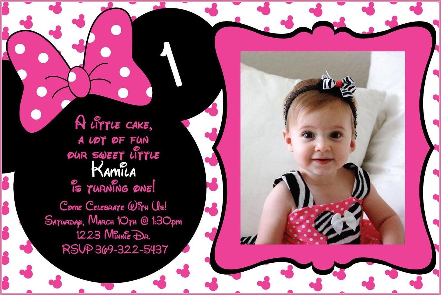 Create Free Minnie Mouse Birthday Invitations