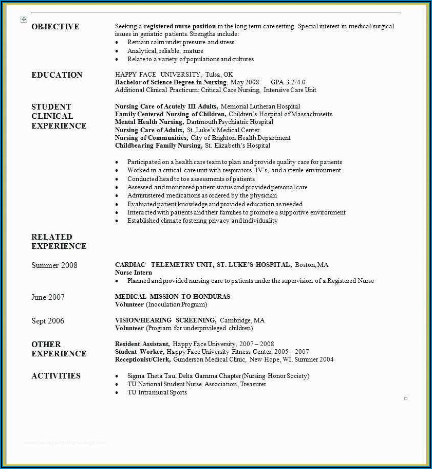 Cv Format In Ms Word 2007 Free Download Doc