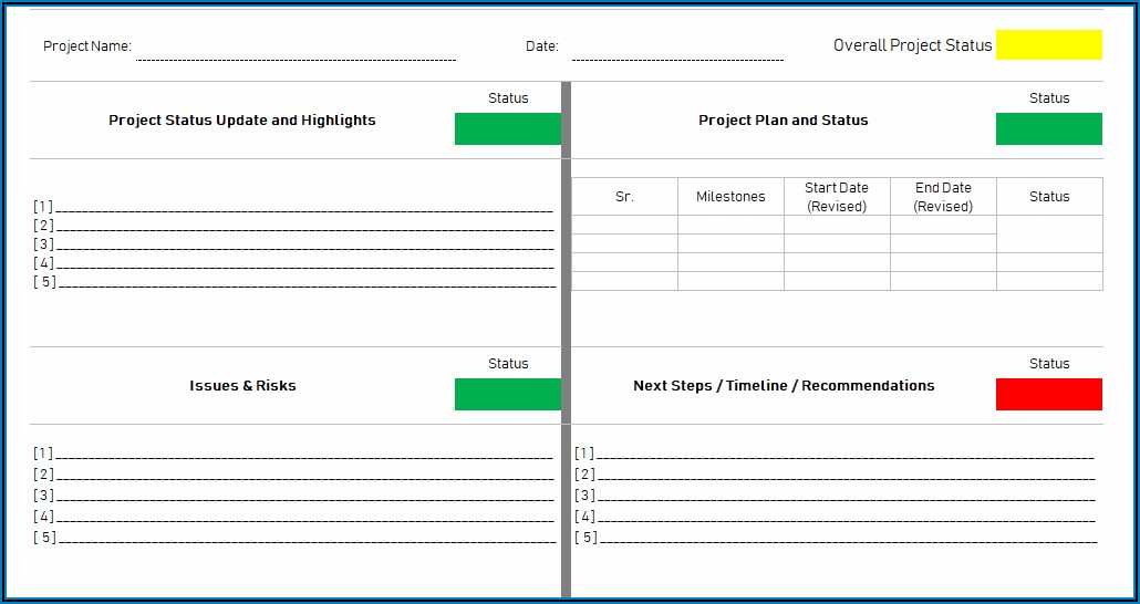 Dashboard Report Template Excel