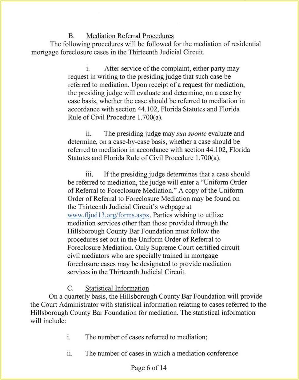 Dissolution Of Marriage Florida Forms Hillsborough County