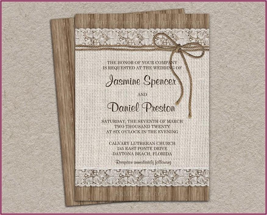 Diy Vintage Wedding Invitations