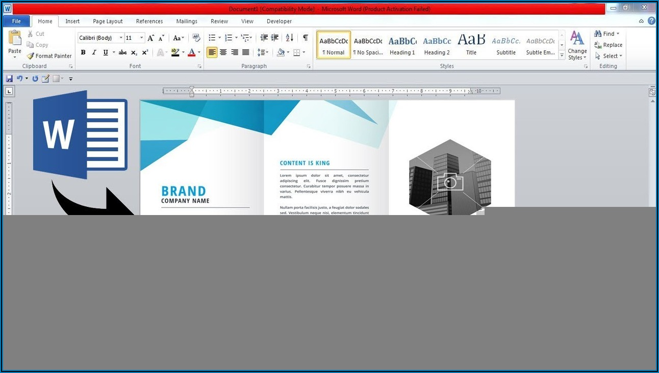 Double Sided Pamphlet Template Word