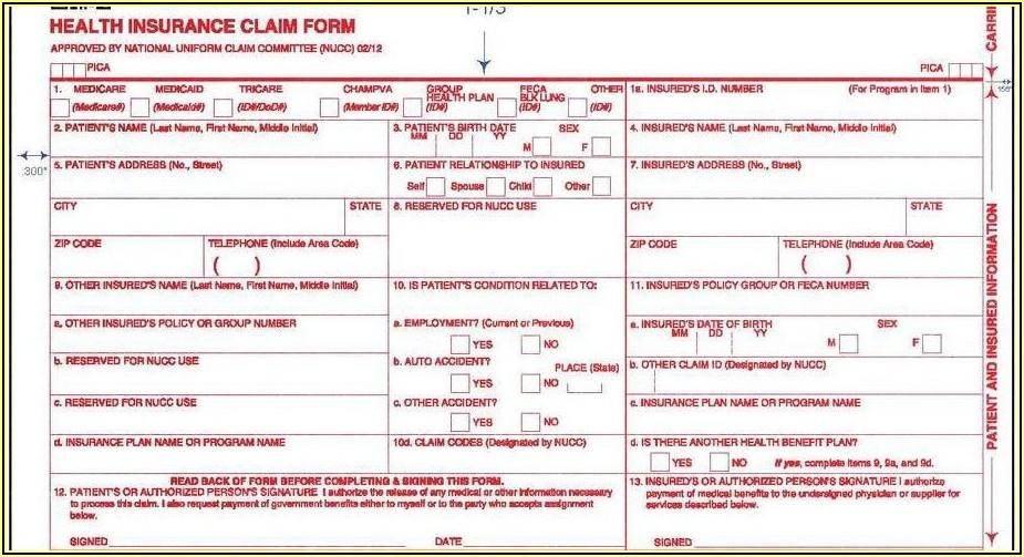 Downloadable Cms 1500 Form Pdf