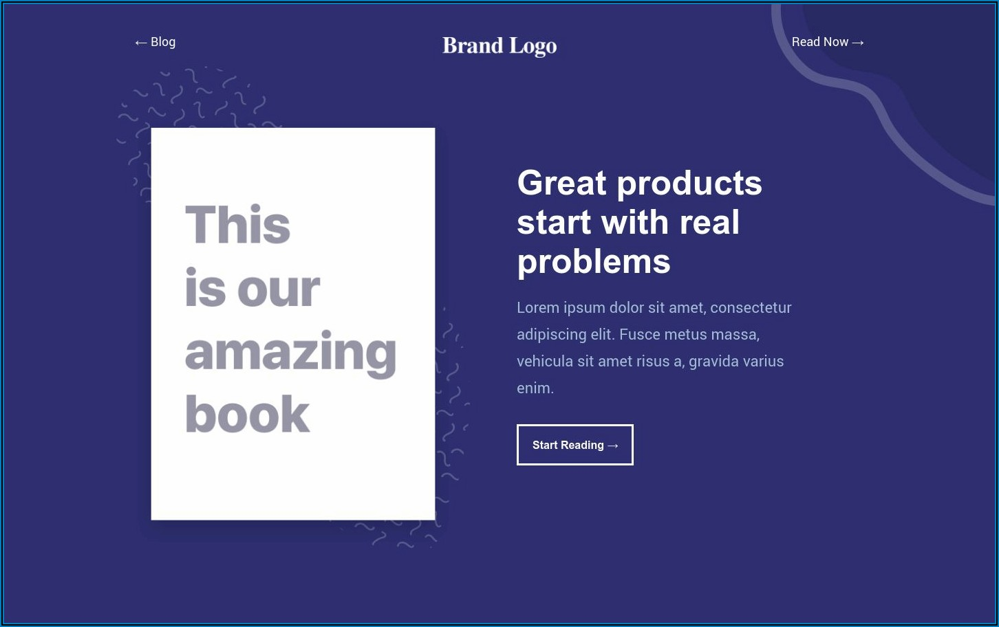 Ebook Landing Page Template Free