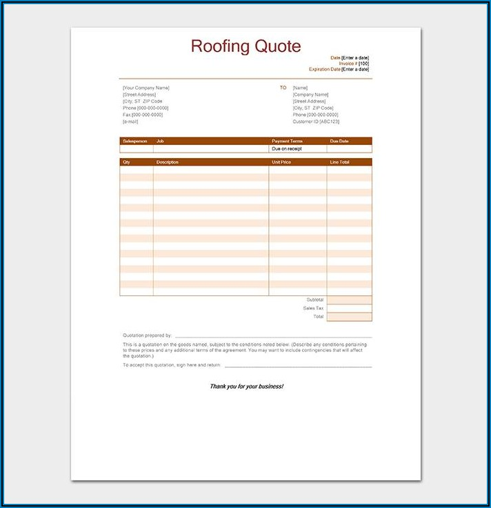 Electrical Quote Template Free