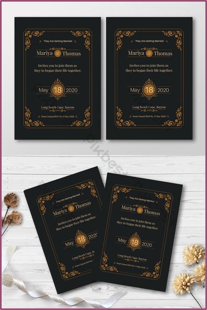 Elegant Wedding Invitation Card Background