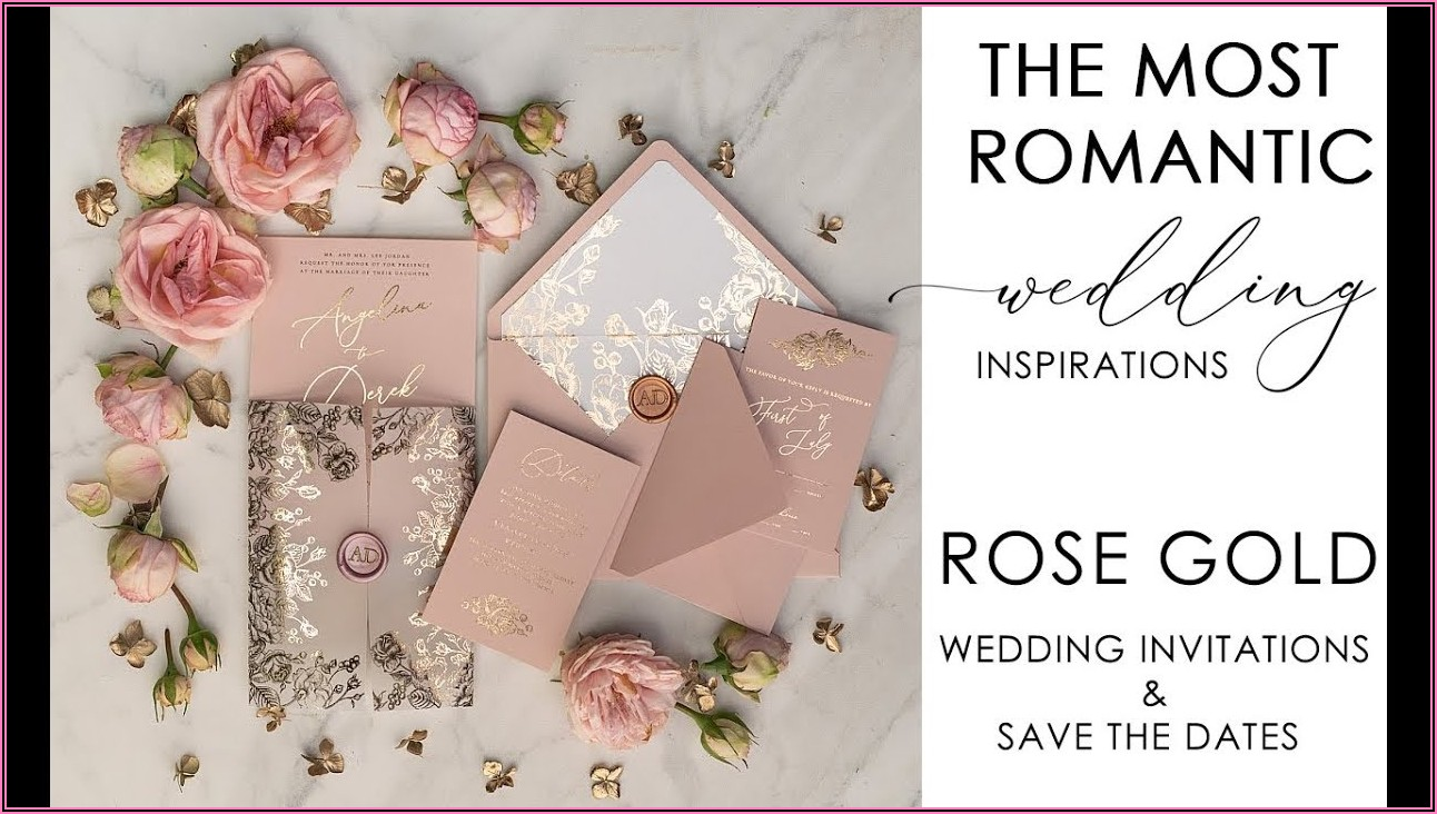Elegant Wedding Invitations Rose Gold