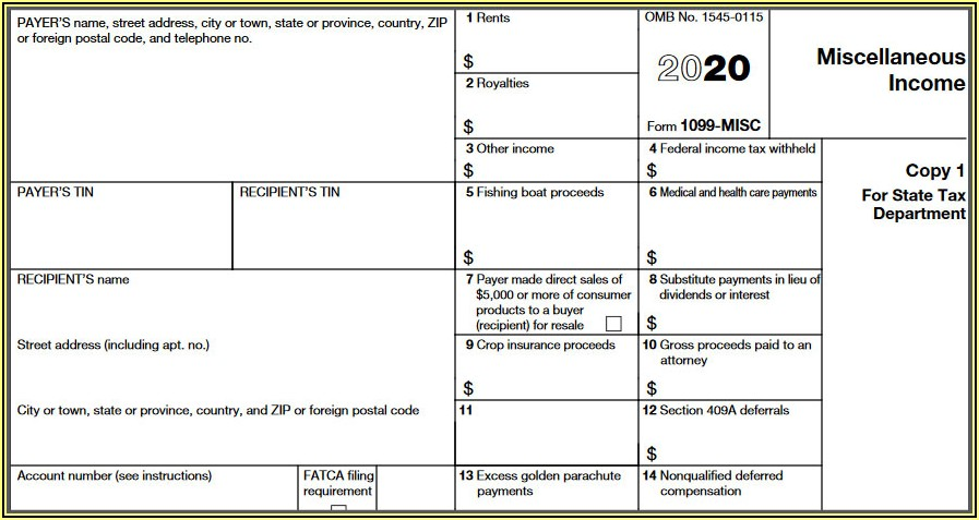 Federal Form 1099 Misc Instructions
