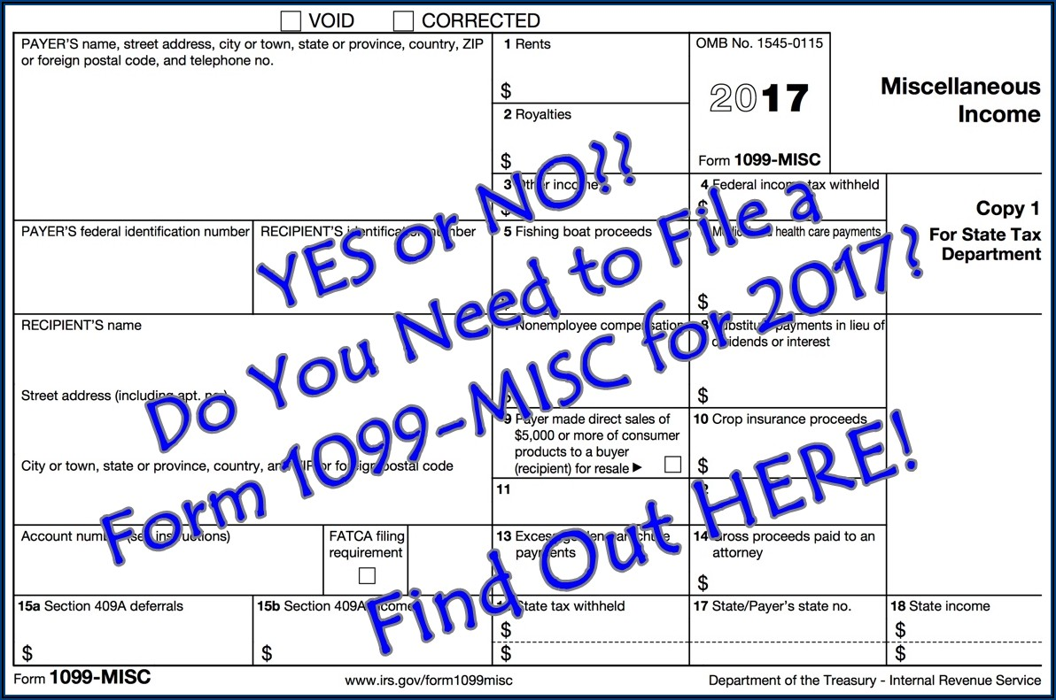 File 1099 Misc Form