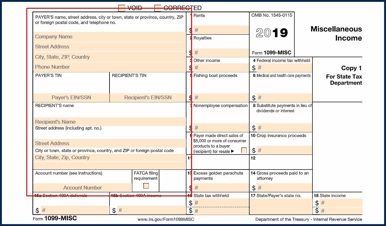 File Form 1099 Misc 2019