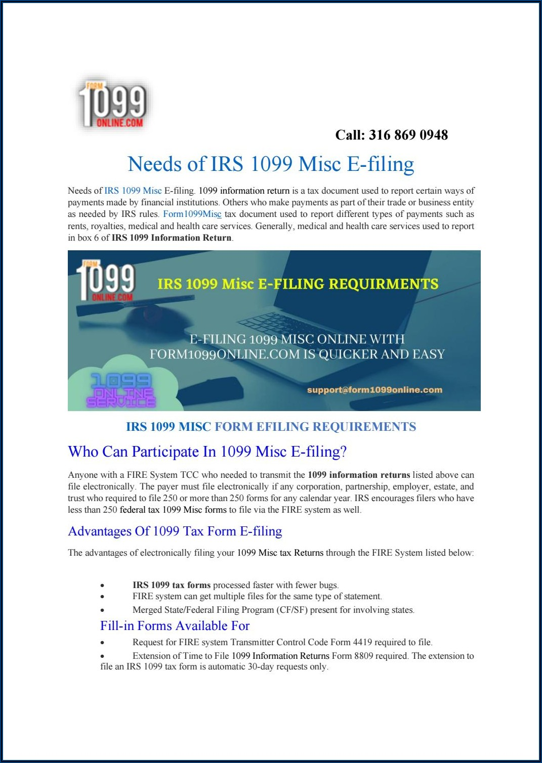Filing 1099 Misc Forms Electronically