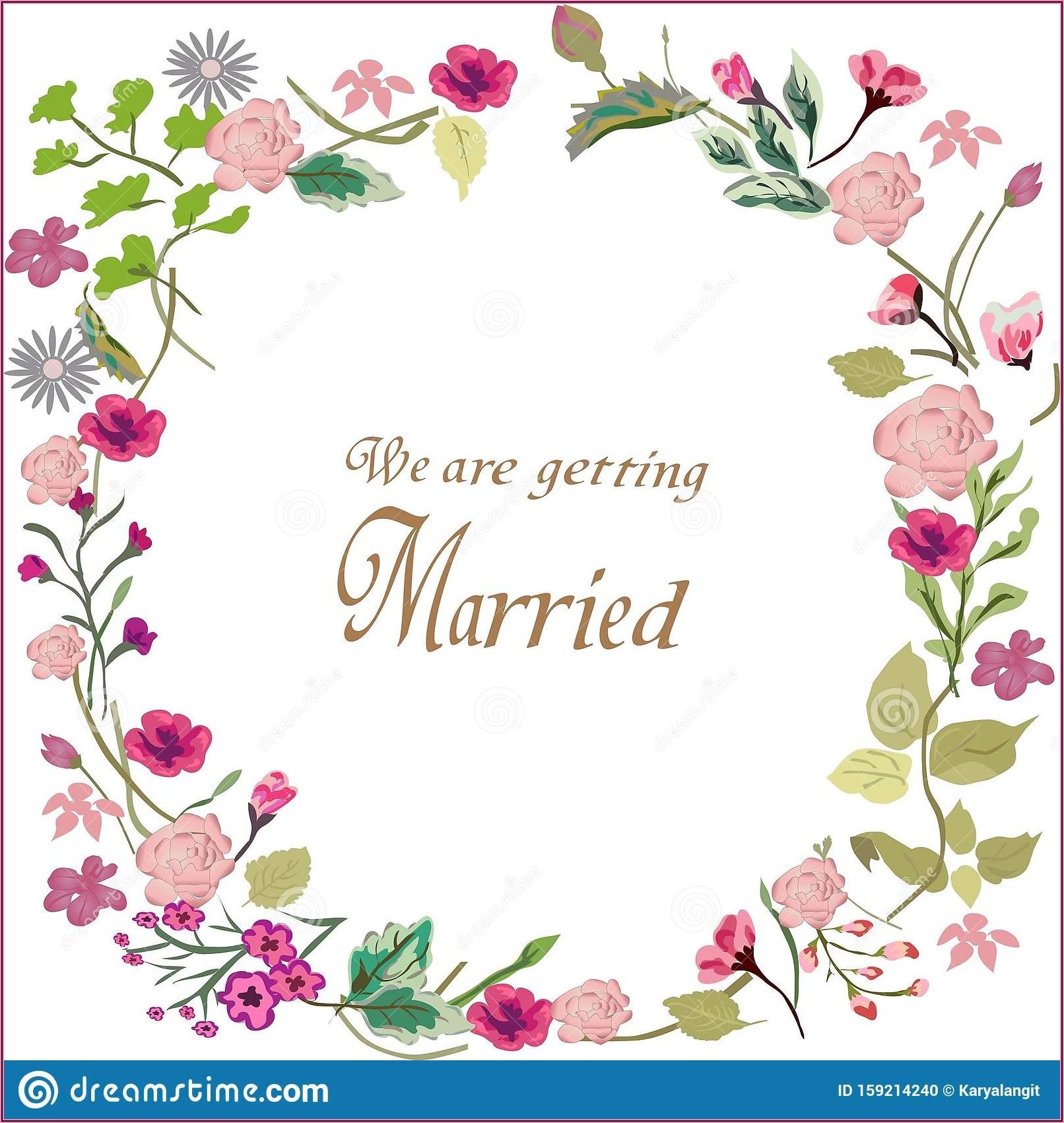 Floral Wedding Invitation Border Design