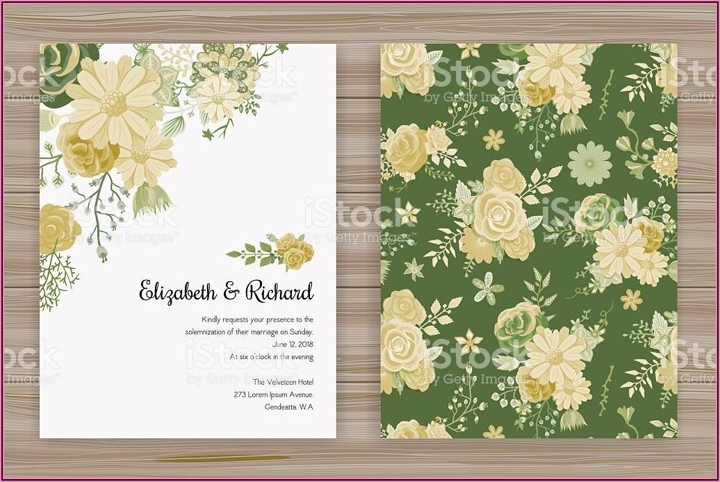 Floral Wedding Invitation Templates Vector Free