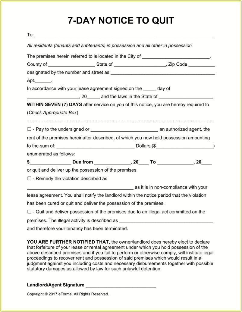 Florida Landlord Tenant Law Forms