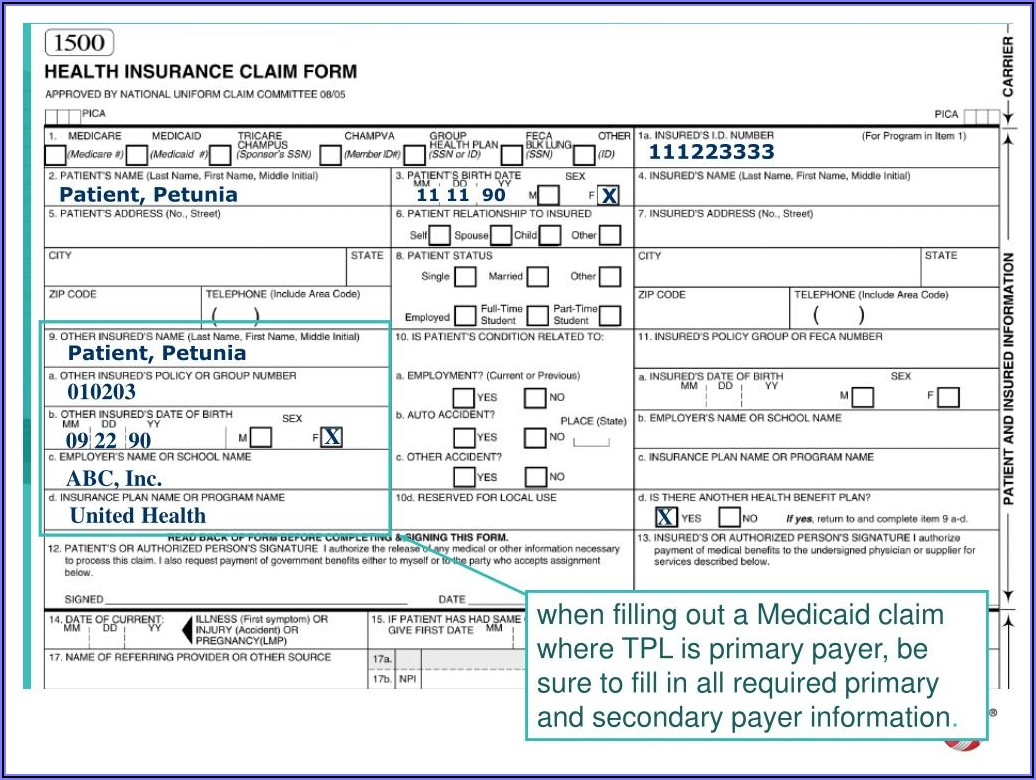Florida Medicaid Tpl Forms