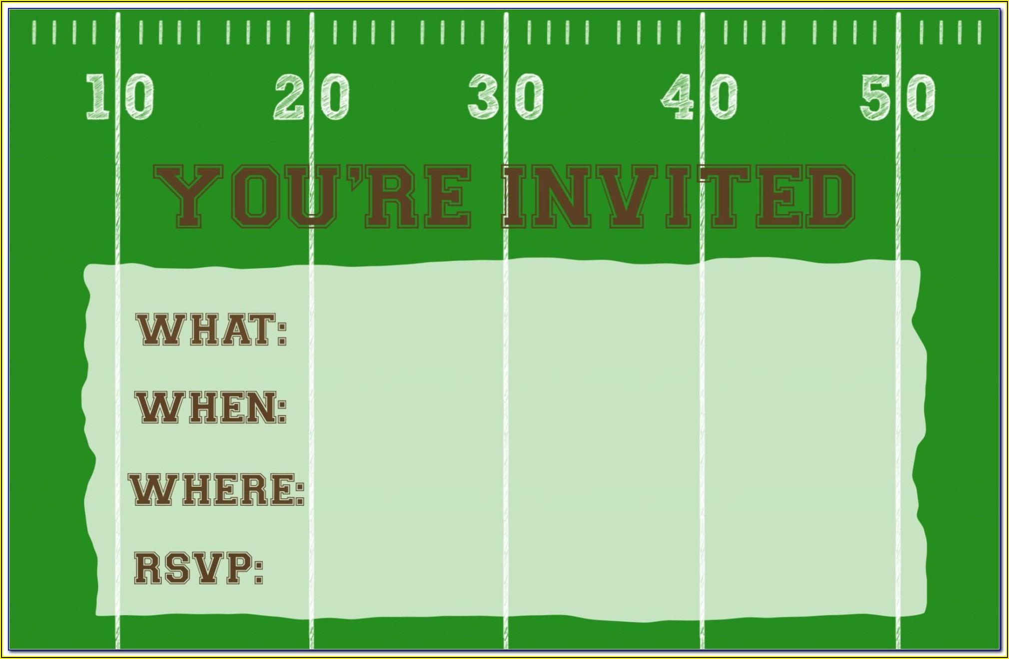 Football Match Invitation Template