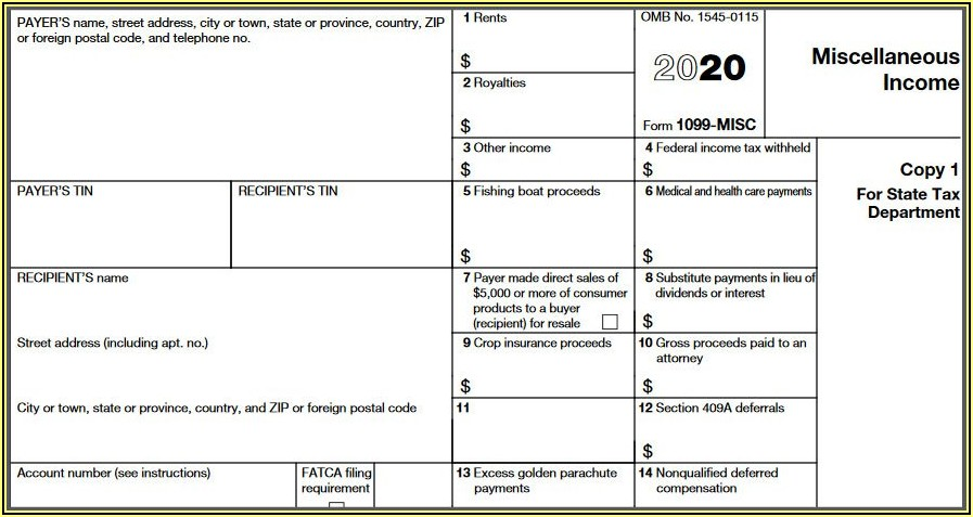 Form 1099 Misc Payer Federal Identification Number