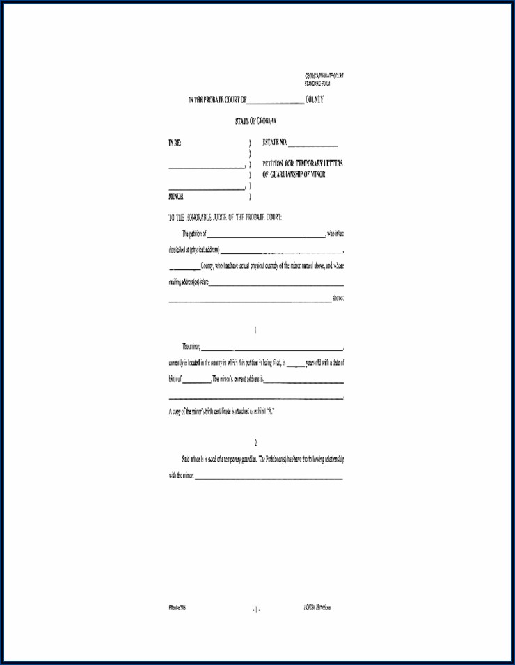 Forms For Legal Custody Of Child