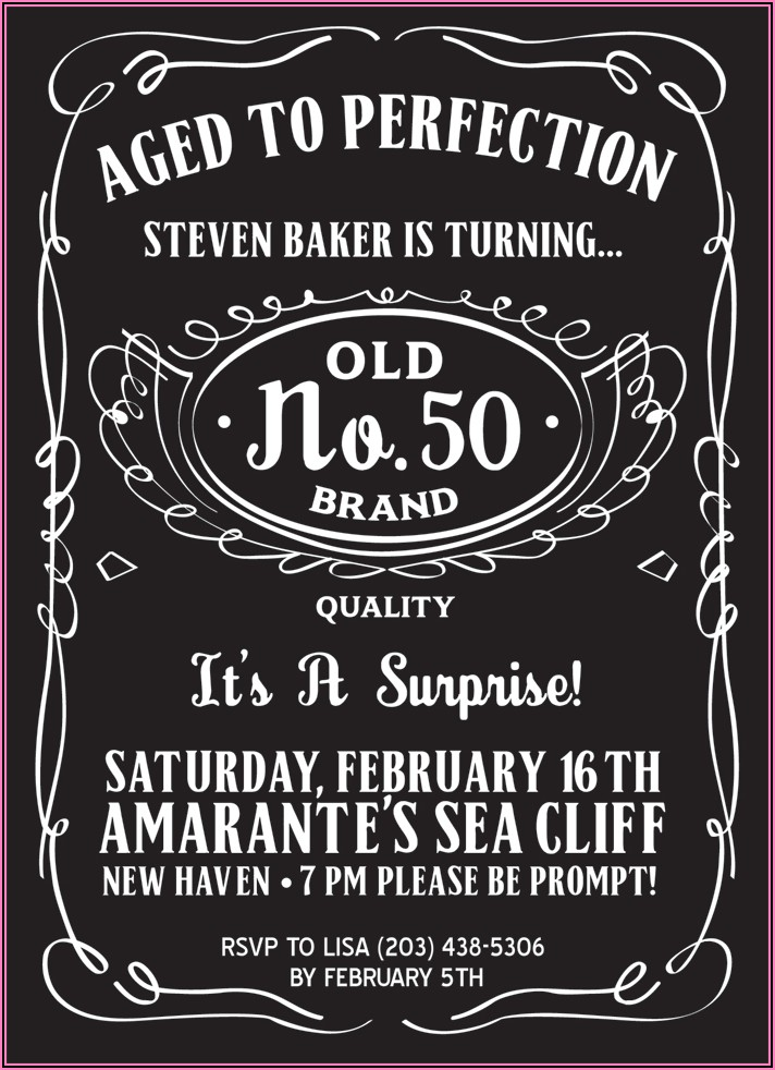 Free 50th Birthday Invitations Templates