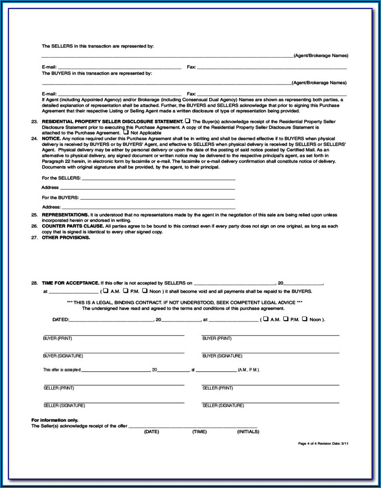 Free Auto Purchase Agreement Template