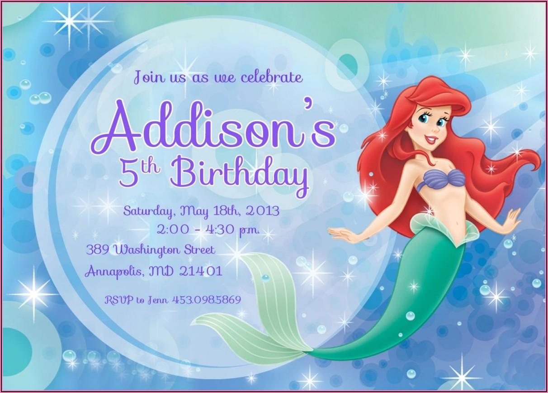 Free Birthday Invitation Templates Mermaid
