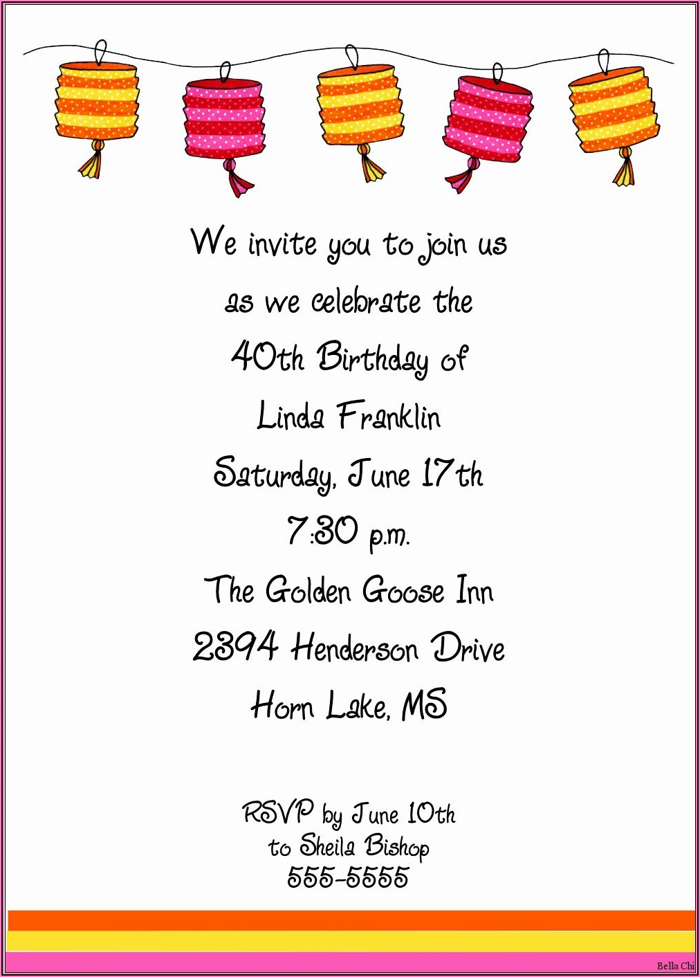 Free Birthday Party Invitation Templates For Adults