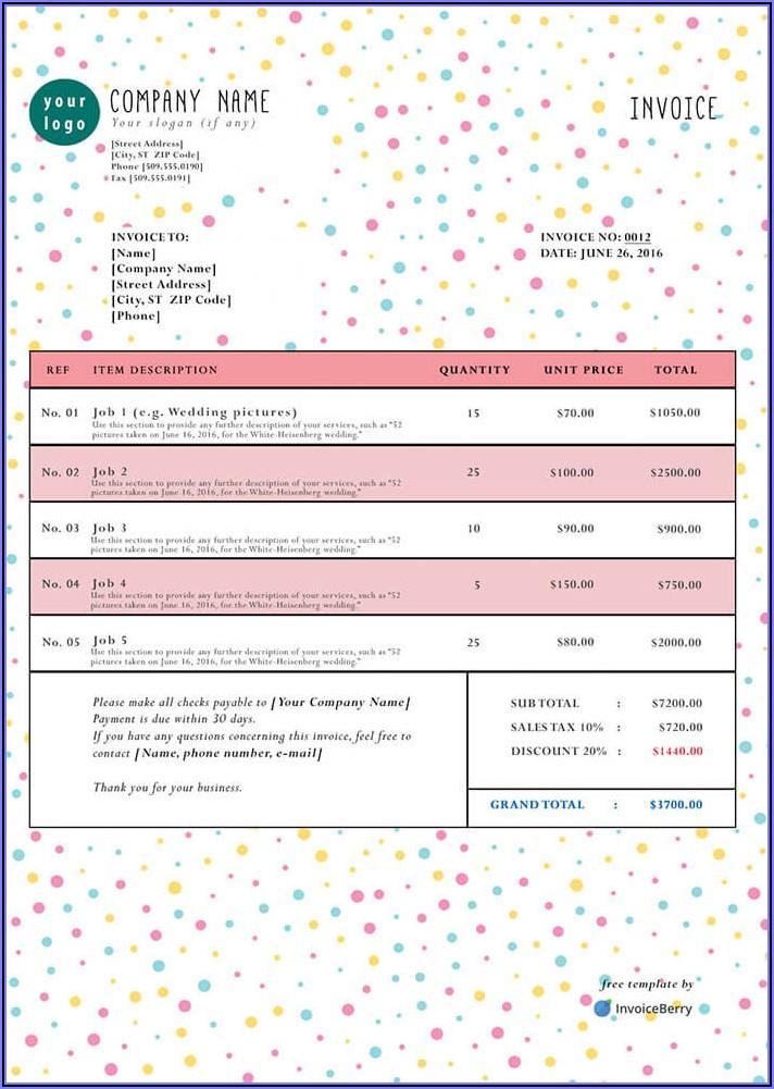 Free Blank Printable Invoice Templates
