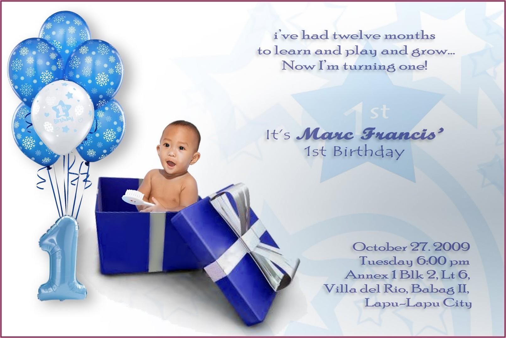 Free Boy Birthday Invitations Templates
